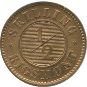 ½ Skilling Rigsmønt - Frederik VII – reverse