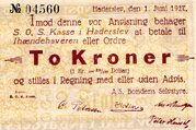2 Kroner (Haderslev) – reverse
