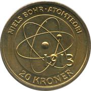 20 Kroner - Margrethe II - Niels Bohr: Atomic model -  reverse