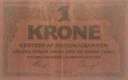 1 Krone (Skillemønt type I) – obverse
