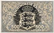 500 Kroner (Heilmann type II) – reverse