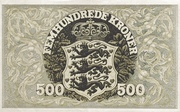 500 Kroner  (Heilmann type III) – reverse
