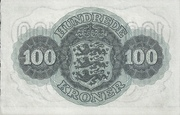 100 Kroner (Substitution Note) – reverse