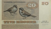 20 Kroner (1972 Serie Painting and Animal) -  reverse