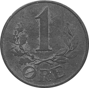 1 Øre - Christian X (German Occupation) – reverse