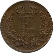 1 Skilling Rigsmønt - Frederik VII – obverse