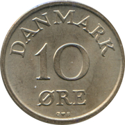 10 Øre - Frederik IX -  reverse