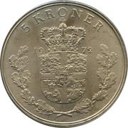 5 Kroner - Frederik IX -  reverse