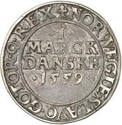 1 Skilling Dansk - Frederik II (Copenhagen mint) – reverse