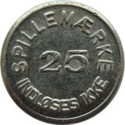 25 Spillemærke - Indløses Ikke (Dansk Mønt 13 20 41) – reverse