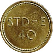 Token - 40 STD-E – obverse