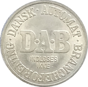 Vending Machine Token - DAB (Dansk Automat Brancheforening; Non-magnetic) – obverse