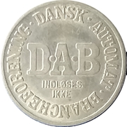 Vending Machine Token - DAB (Dansk Automat Brancheforening; Non-magnetic) – reverse