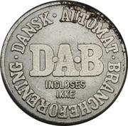 Vending Machine Token - DAB (Dansk Automat Brancheforening; Magnetic) – obverse