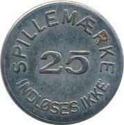25 Spillemærke - Indløses Ikke (Dansk Mønt MI 20 41) – reverse