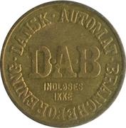 Vending Machine Token - DAB (Dansk Automat Brancheforening; Brass) – obverse