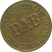 Vending Machine Token - DAB (Dansk Automat Brancheforening; Brass) – reverse