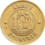 Token - Århus Sporveje – reverse