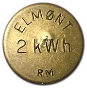 Token - Elmønt (2 kWh) – obverse
