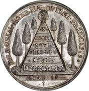 Medal - Frederik IV (Death of King) – reverse
