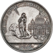 Medal - Christian VI (Reformation Anniversary; Type 1; silver issue) – reverse