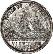 Medal - Christian V (Battle of Øland) – reverse