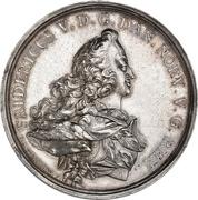 Medal - Frederik V (Wedding with Julianne Marie; silver issue) – obverse