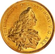 Medal - Frederik V (Wedding with Julianne Marie; gold issue) – obverse