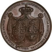 Medal - Visit of the Prince of Denmark to the Paris mint – obverse