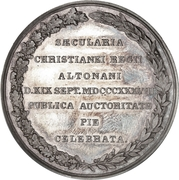 Medal - Frederik VI (Christianeums in Altona) – reverse
