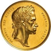 Medal - Frederik VI (King's death; gold issue) – obverse