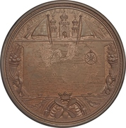 Medal - 25th anniversary of the United Steamship Company – reverse