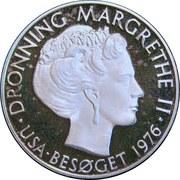 Medal - Queen Magrethe II (Visit USA 1976) – obverse