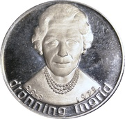 Medal - Queen Ingrid 65th Anniversary – obverse