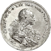 Medal - Christian VI (Reformation Anniversary; Type 1; tin issue) – obverse