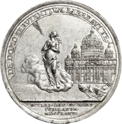 Medal - Christian VI (Reformation Anniversary; Type 1; tin issue) – reverse