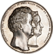 Medal - Christian VIII (Silver wedding jubilee) – obverse
