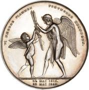 Medal - Christian VIII (Silver wedding jubilee) – reverse