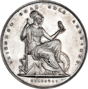 Medal - Gustav Hetsch career anniversaries – reverse