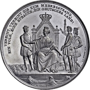 Medal - Response of the Schleswig-Holsteiners to the King's open letter – obverse