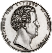 Award medal - Christian VIII (Drowned rescue) – obverse