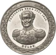 Medal - General Frederik von Bülow – obverse