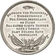 Medal - General Frederik von Bülow – reverse