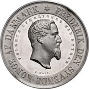 Medal - Frederik VII (Industrial Exhibition) – obverse