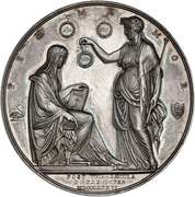 Medal - Frederik VI (Reform anniversary; silver issue) – reverse