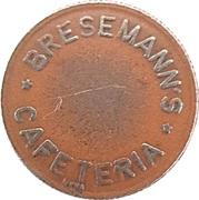 25 Spillemærke - Bresemann's Cafeteria – obverse