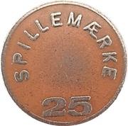 25 Spillemærke - Bresemann's Cafeteria – reverse
