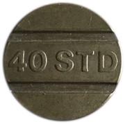 Token - 40 STD (Raised lettering) – obverse