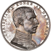Medal - Beginning of the Reign of King Christian X – obverse