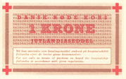 1 Krone (Danish Red Cross; Hospital Ship MS Jutlandia) – reverse